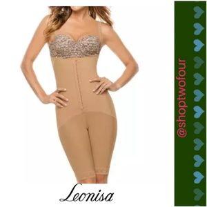 a66202cdea5e8 Leonisa Extra-Firm Tummy-Control Lace-Trim Shaper
